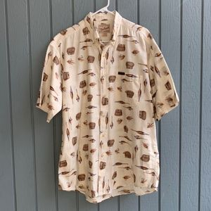 **AWESOME WOOLRICH SHIRT ** FLY FISHING ** LARGE *